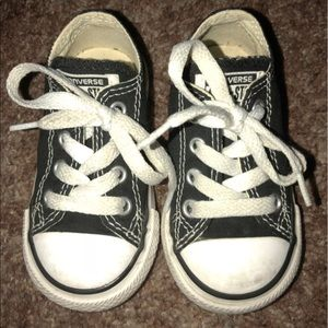 Black toddler converse
